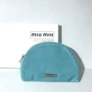 Miu Miu Cosmetic bag blue new authentic